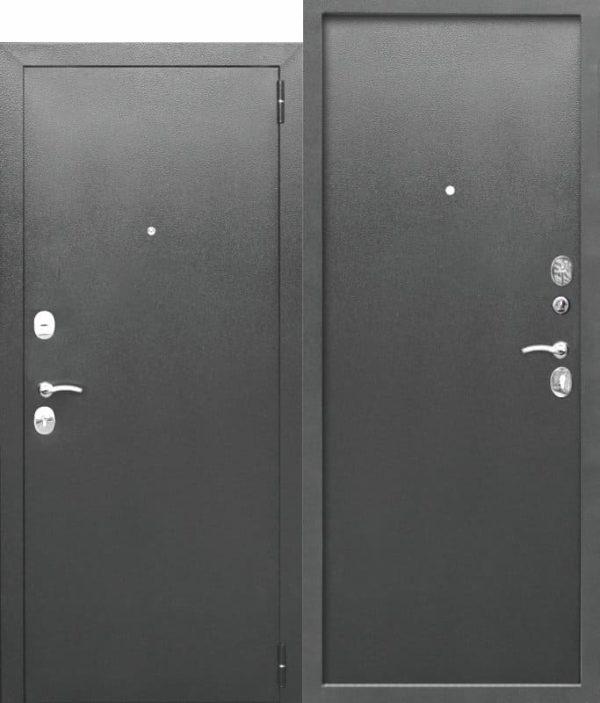 Входная дверь ГАРДА Букле серый Металл