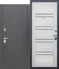 Входная дверь ГАРДА Серебро Царга(Лестница) Шале белый