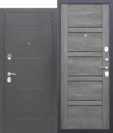Входная дверь ГАРДА Серебро Царга(Лестница) Шале графит