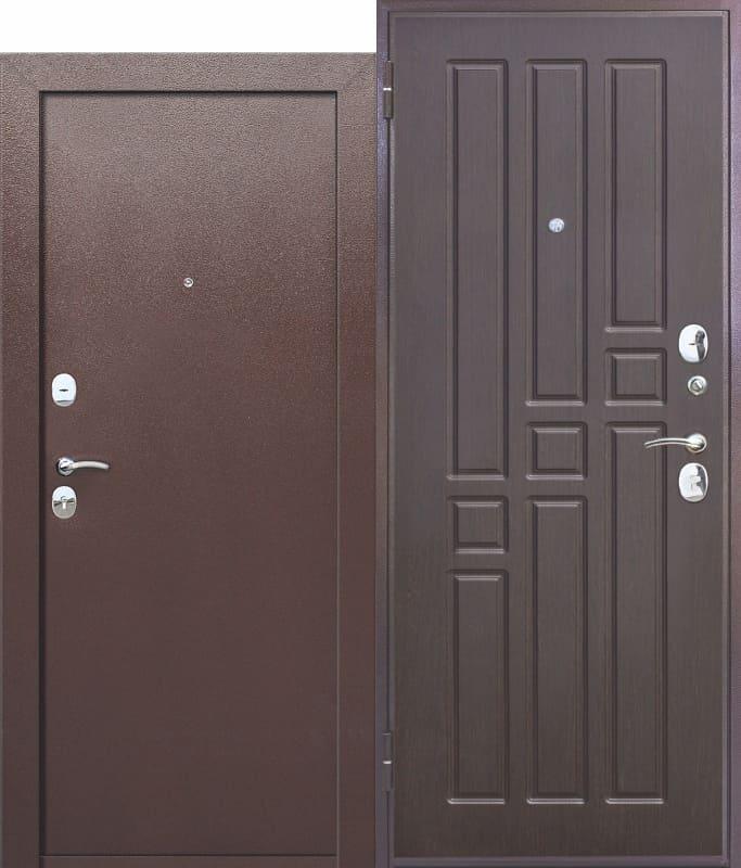 Входная дверь Гарда ВО 2 замка Венге. Внутреннее открывание