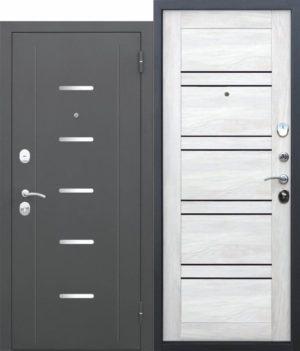 Входная дверь 7,5 Гарда МУАР Царга Ривьера айс