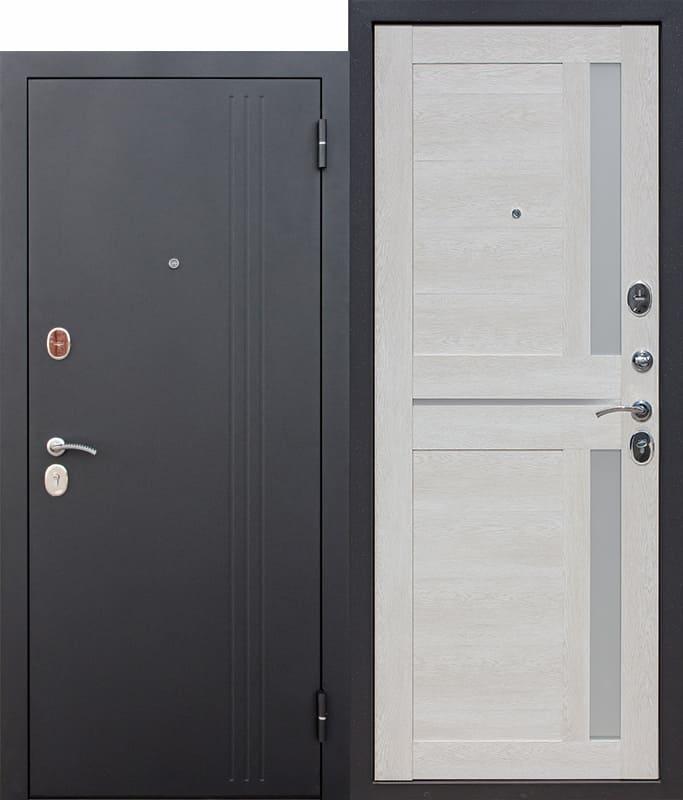 Входная дверь 7,5 см НЬЮ-ЙОРК Царга Каштан перламутр