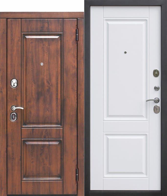 Входная дверь 9,5 см ВЕНА Vinorit Патина МДФ МДФ Белый матовый