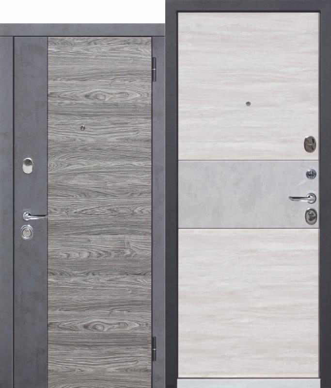 Входная дверь 9,5 см ОРЛАНДО бетон графит