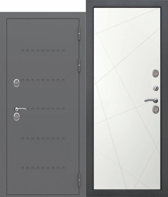Входная дверь c ТЕРМОРАЗРЫВОМ 11 см ISOTERMA Эмаль Линии ral9003