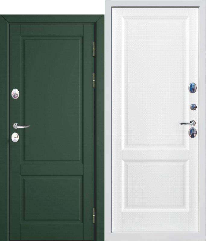 Входная дверь c ТЕРМОРАЗРЫВОМ 12,5 см ISOTERMA Эмаль ral 6020/9003