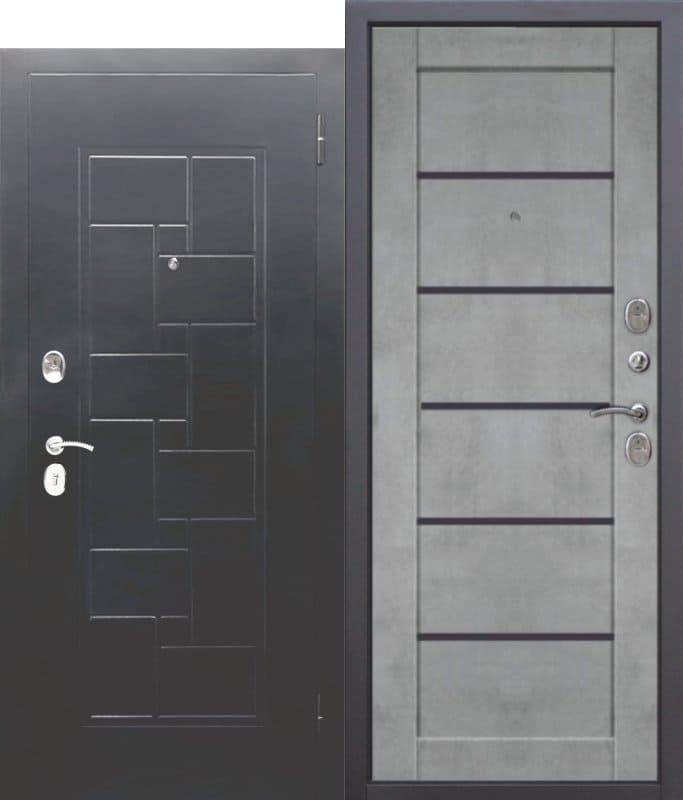 Входная металлическая дверь ГАРДА Серебро Царга Бетон серый