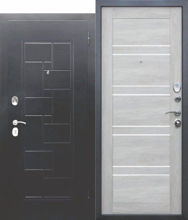 Входная металлическая дверь ГАРДА Серебро Царга Шале белый