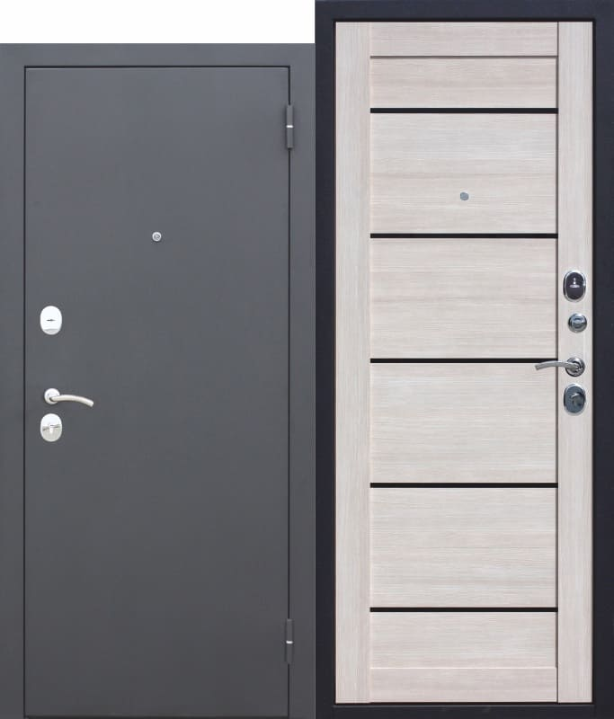 Входная металлическая дверь Гарда МУАР ЦАРГА Лиственница мокко