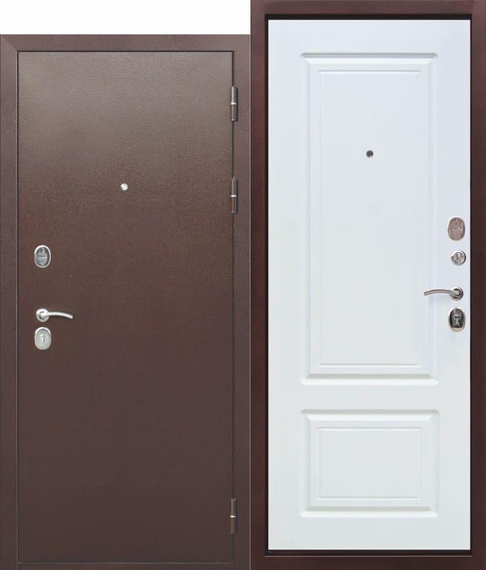 Входная металлическая дверь 10 см ТОЛСТЯК РФ Медный антик - БЕЛЫЙ ЯСЕНЬ