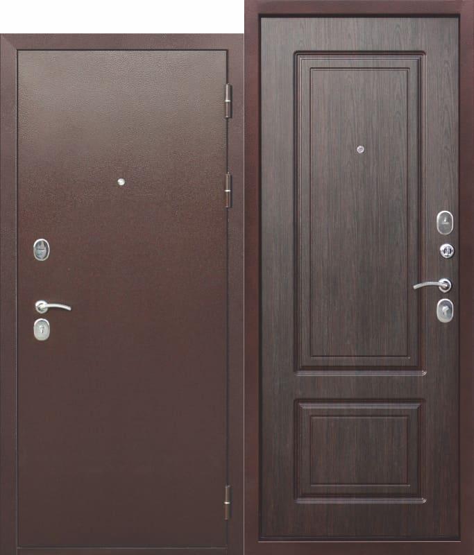 Входная металлическая дверь 10 см ТОЛСТЯК РФ Медный антик Венге