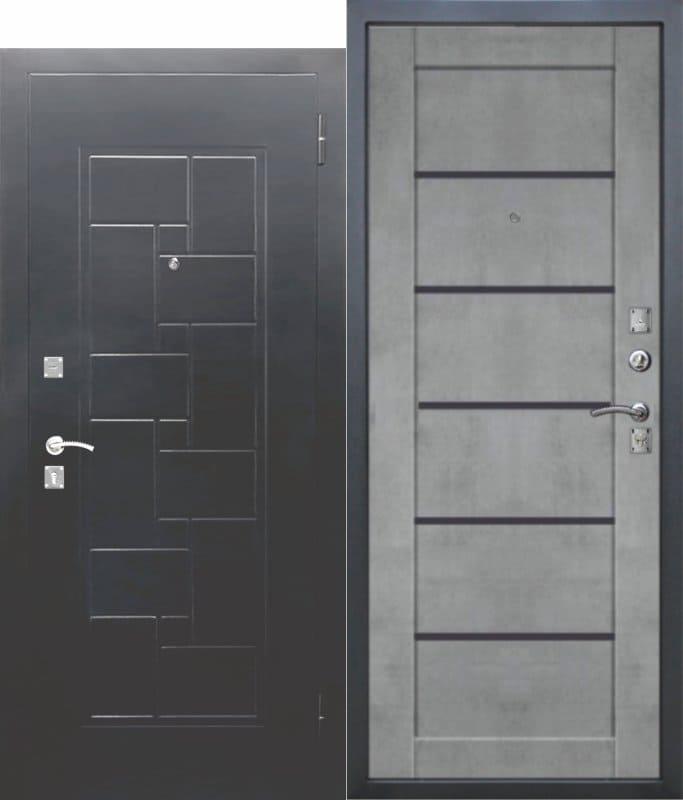 Входная металлическая дверь DOMINANTA Серебро Царга Бетон серый