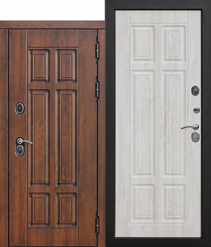 Входная морозостойкая дверь c ТЕРМОРАЗРЫВОМ 13 см Isoterma МДФ Сосна белая