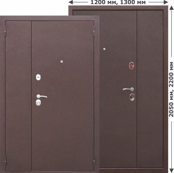 Двустворчатая входная дверь GARDA Металл