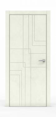 Межкомнатная дверь - Бетон Крем 3217
