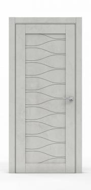Межкомнатная дверь - Бетон Светлый 0530