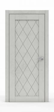 Межкомнатная дверь - Бетон Светлый 0532