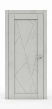 Межкомнатная дверь - Бетон Светлый 0535