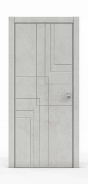 Межкомнатная дверь - Бетон Светлый 3217