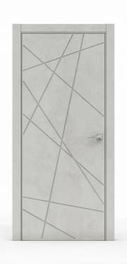 Межкомнатная дверь - Бетон Светлый 3218