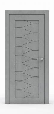 Межкомнатная дверь - Бетон Темный 0530