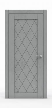 Межкомнатная дверь - Бетон Темный 0532