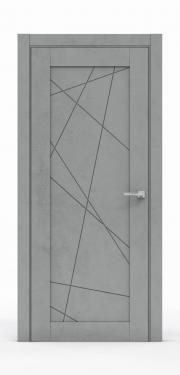 Межкомнатная дверь - Бетон Темный 0534
