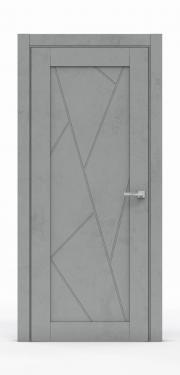 Межкомнатная дверь - Бетон Темный 0535