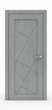 Межкомнатная дверь - Бетон Темный 0536