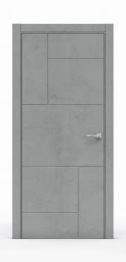 Межкомнатная дверь Бетон Темный 3213