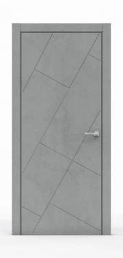 Межкомнатная дверь - Бетон Темный 3216