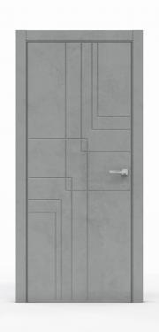Межкомнатная дверь - Бетон Темный 3217