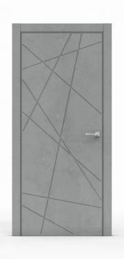 Межкомнатная дверь - Бетон Темный 3218