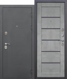 Входная дверь ТРОЯ Муар Царга бетон Серый
