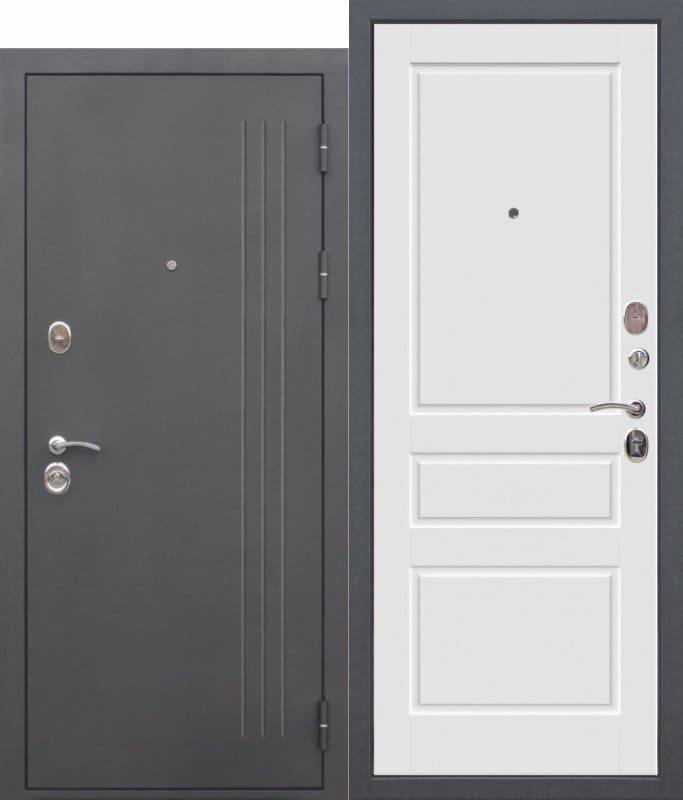 Входная дверь ТРОЯ Муар Эмаль ral 9003