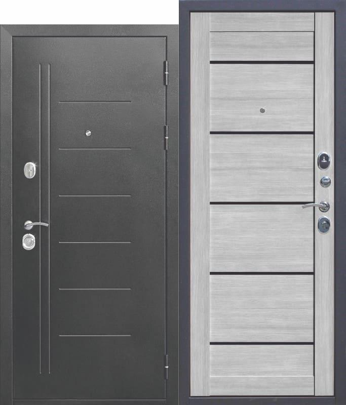 Входная дверь Троя Серебро Дымчатый дуб