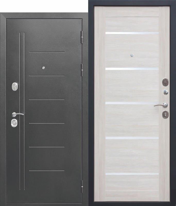 Входная дверь Троя Серебро Лиственница беж