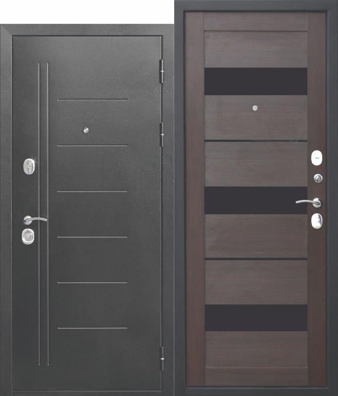 Входная дверь Троя Серебро Темный Кипарис