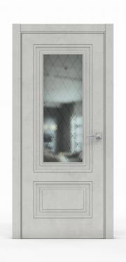 Экошпон дверь - Бетон Светлый 3302 ГР