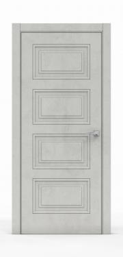 Экошпон дверь - Бетон Светлый 3304