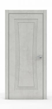 Классическая межкомнатная дверь - Бетон Светлый 3801