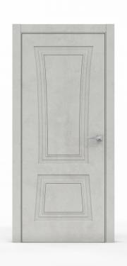 Классическая межкомнатная дверь - Бетон Светлый 3802