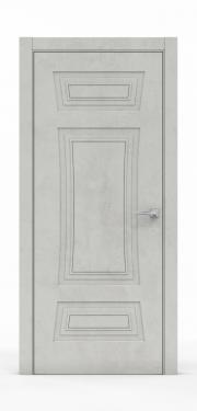 Классическая межкомнатная дверь - Бетон Светлый 3803