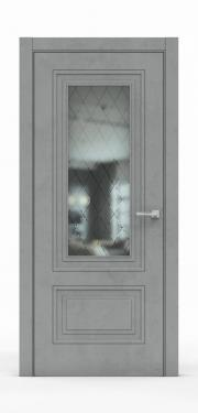 Экошпон дверь - Бетон Темный 3302 ГР