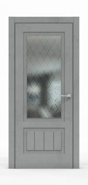 Межкомнатная дверь Бетон Темный 3501-ГР