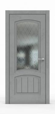 Межкомнатная дверь Бетон Темный 3502-ГР