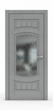 Межкомнатная дверь Бетон Темный 3504-ГР
