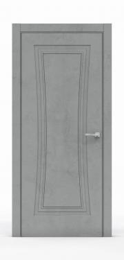 Классическая межкомнатная дверь - Бетон Темный 3801