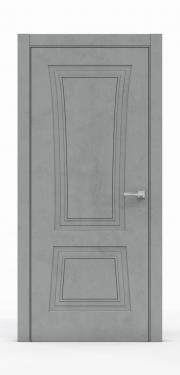 Классическая межкомнатная дверь - Бетон Темный 3802