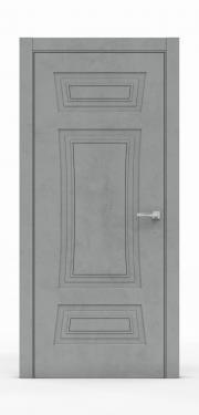 Классическая межкомнатная дверь - Бетон Темный 3803